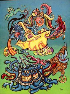 #thebeatles #yellowsubmarine #myart #art #grafomaniatica #malujohansen #johansen