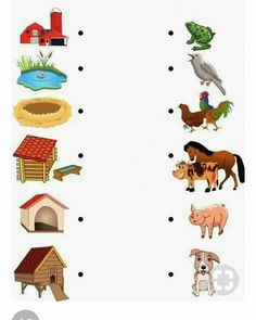 48 Ideas Science Worksheets For Kids Activities For 2019 Animal Activities, Preschool Learning Activities, Preschool Worksheets, Preschool Activities, Kindergarten Science, Farm Animals Preschool, Farm Animal Crafts, Farm Crafts, Animals And Their Homes