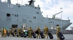 On Thursday 24 December 2020, more than 600 Australian Defence Force personnel boarded HMAS Adelaide and headed for Fiji.