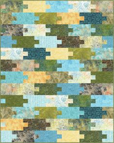 "Puzzle Pieces quilt by Osie Lebowitz.  In the ""Pick Up a Six Pack"" pattern book by Timeless Treasures."