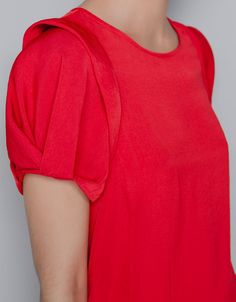 BLOUSE WITH FRILL ON SHOULDER - Shirts - Woman - ZARA United States