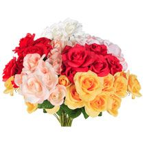 Artificial flowers - variety of colors and flowers.