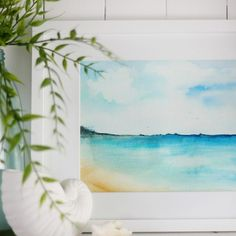 How to paint a watercolor beach scene