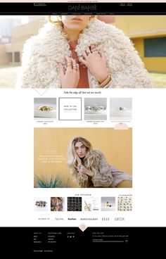 Dani Barbe website design for a modern bohemian jewelry and décor brand.