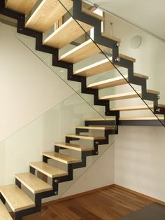 Welcome to our image gallery portraying 25 custom wood stairs and stair railing ideas for your home. The staircase is often located in the main foyer of Interior Stair Railing, Staircase Railings, Railing Design, Staircase Design, Stair Design, Railing Ideas, Staircase Ideas, Stair Treads, Steel Stairs