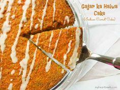 Gajar ka Halwa Cake (Indian Carrot Cake) - My Heart Beets