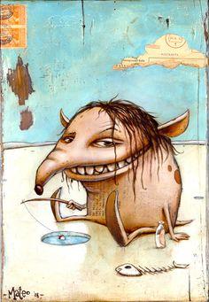 "Mateo Dineen - Illustration - Monster : ""You know what? Monster Drawing, Monster Art, Cute Monsters, Little Monsters, Illustration Sketches, Illustrations, Urbane Kunst, Kobold, Alien Art"