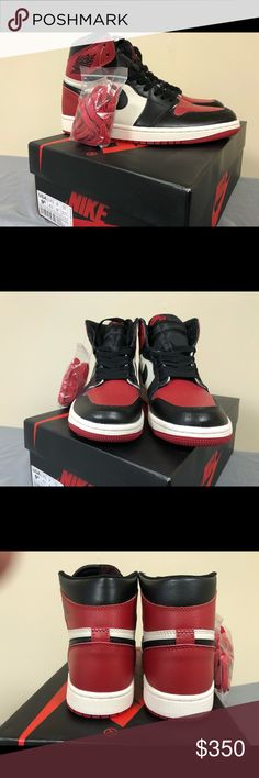 """Jordan 1 """"Bred Toe"""" Size 9.5 DEADSTOCK SIZE 9.5 MORE ITEMS AVAILABLE IN  STORE"""