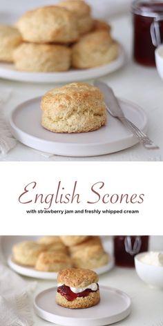 Tea Recipes, Sweet Recipes, Baking Recipes, Dessert Recipes, Cheesecake Recipes, English Scones, British Scones, Bolacha Cookies, Homemade Scones