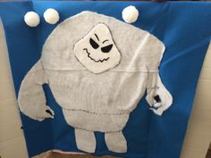 Throw the snowball at marshmallow the snow monster. Frozen party