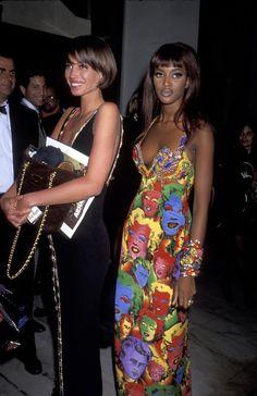 Christy Turlington en Versace à une soirée caritative en 1991