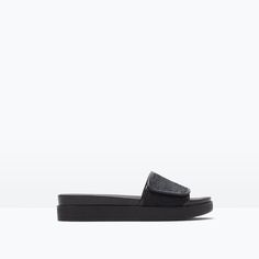 Image 1 of BIO LEATHER SANDAL from Zara