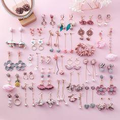 3 Sweet Pink Heart Flower Earrings Fringed Pearl Earrings Jewelry Fabric Pink Flower Earrings Christmas Earrings Gift Metal Color - Women's style: Patterns of sustainability Shell Earrings, Simple Earrings, Cute Earrings, Round Earrings, Heart Earrings, Flower Earrings, Dangle Earrings, Silver Earrings, Rhinestone Earrings