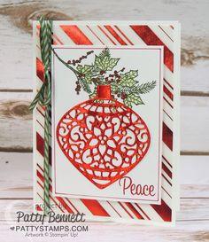 Peaceful-wreath-delicate-ornament-thinlit-card-christmas-pattystamps-foil