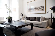 . Neutral Colors, Colours, Love Your Family, Black And White Colour, Minimalist Home, Textures Patterns, Color Schemes, House Design, Couch
