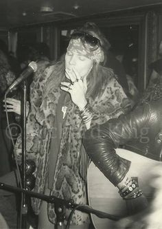 Axl Rose of Guns N' Roses-  The Cathouse in Beverly Hills, 1986