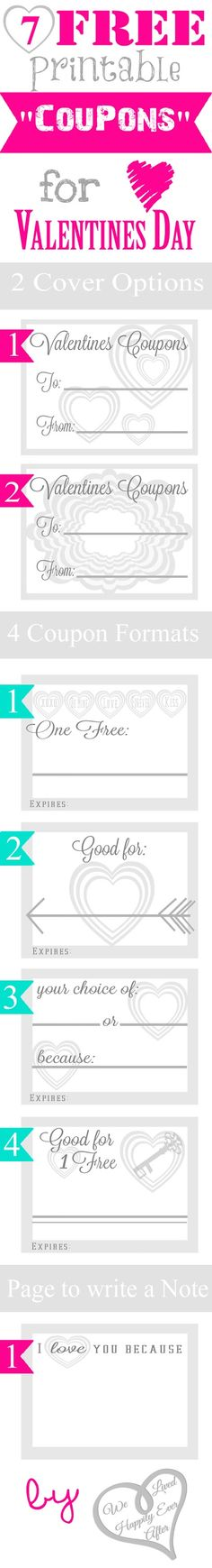 "7 Free Printable ""Coupons"" for Valentine's Day"