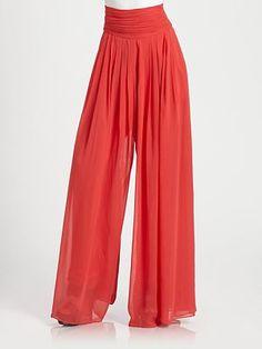 Rachel Zoe Delfina Silk Chiffon Pants #SaksLLTrip