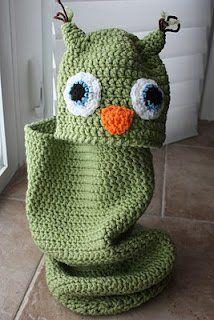 Owl Baby Cocoon | AllFreeCrochet.com