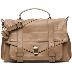 Proenza Schouler PS1 Large Leather in Sahara ($1,995) ❤ liked on Polyvore