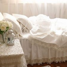 Shabby and elegant White cutwork lace Duvet cover Bedding Set 100 Cotton Duvet Covers, Cutwork, Bed Covers, Victorian Fashion, Crochet Lace, Bed Sheets, Bedding, Bedroom, Style