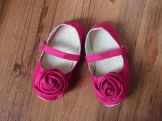 Fuchsia Toddler Shoes Hot Pink Shantung Fuschia by littleserah, $32.00
