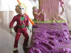 """Beetlejuice action figure. Yup. Had this awesome """"trick""""grave too!"""