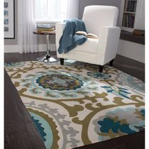 Home Trends Area Rug 4 Ft. 11 In. X 6 Ft. 9 In. Blue/Green Medallion