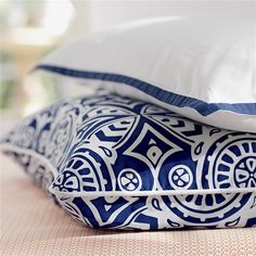 #blue #white #pillow