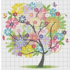 Thrilling Designing Your Own Cross Stitch Embroidery Patterns Ideas. Exhilarating Designing Your Own Cross Stitch Embroidery Patterns Ideas. Cross Stitch Tree, Cross Stitch Heart, Cross Stitch Borders, Cross Stitch Flowers, Cross Stitch Designs, Cross Stitching, Cross Stitch Embroidery, Cross Stitch Patterns, Hand Embroidery Designs