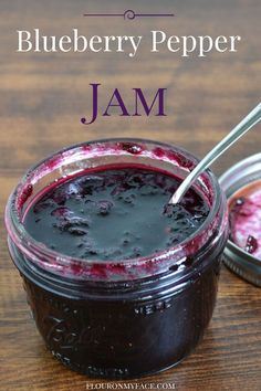 A sweet and spicy Blueberry Pepper Jam recipe using the Ball Jam and Jelly Maker for small batch canning. Jelly Maker, Jam Maker, Pepper Jelly Recipes, Hot Pepper Jelly, Blueberry Pepper Jelly Recipe, Jam Recipes, Canning Recipes, Tuna Recipes, Chile Poblano