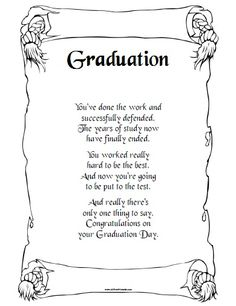 Free Printable Graduation Day Poem - Flora's World