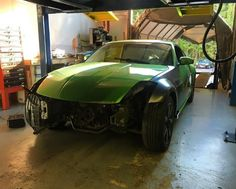 Starting to get the green z put back together! #ajwperformance #iscsuspension #driftcar #nissan #350z