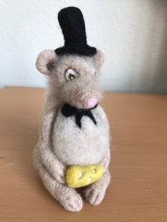 Handmade Soft Sculpture Gift made from Natural Wool. Needle Felted Animals, Felt Animals, Needle Felting, Pumpkin Hat, Felt Fox, Felt Mouse, Cute Mouse, Quirky Gifts, Soft Sculpture