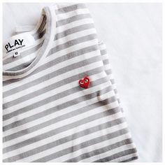 Commes des Garçons Play Striped T-shirt.