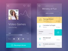I have been working on new project - social music app.  Behance Twitter