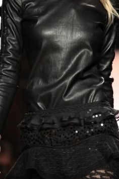 Isabel Marrant SS14, leather and lace. black of course.   #mizustyle