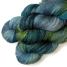 Superwash Merino Cashmere Nylon Yarn - Salt Marsh, 430 yards by JulieSpins via Etsy