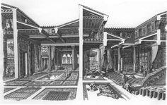 Casa del Fauno, Pompei:  http://www.francescocorni.com/disegni.php?s_regione=Campania&disegniOrder=Sorter_titolo&disegniDir=ASC