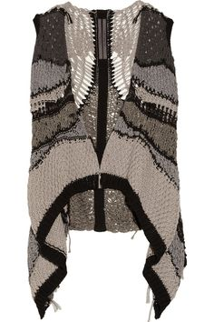 Rick Owens | Psyco draped open-knit cotton vest | NET-A-PORTER.COM