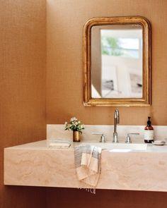 warm golden travertine countertops