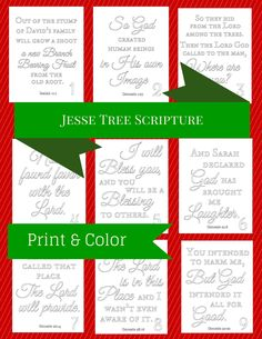 If you are familiar with the Jesse tree devotion, you may recognize the scripture that is referenced each day. In the coming days, I wi. Diy Christmas Gifts For Family, Christmas Program, Christmas Traditions, All Things Christmas, Christmas Crafts, Christmas Ideas, Xmas, Advent Scripture, Scripture Cards