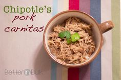 Chipotle's Pork Carnitas Copycat Recipe {Crock Pot} - Just need to make sure you give the pork enough time to cook thoroughly!