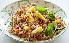 "Curried Quinoa Salad...Pronounced ""Keen-wah""."