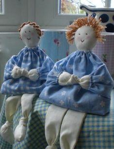 Artesanato e Cia: Tutorial da Boneca Dilly Dilly Doll (boneca de pano)