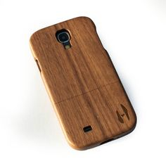 Houten hoesje, Samsung Galaxy S4 - donker notenhout door HoentjenCreatie op Etsy