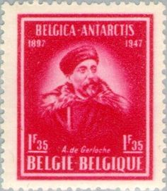 Sello: Antarctic Expedition of Captain Adrien de Gerlache (Bélgica) (Antarctic expedition) Mi:BE 791,Sn:BE 371,Yt:BE 749,Sg:BE 1201,AFA:BE 809,Bel:BE 749,Un:BE 749