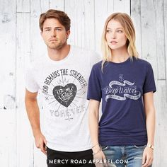 Handcrafted Christian Clothing. Gloriously comfy Christian T shirts. FREE USA Shipping! Reverent, scripture based tees for men and women. Shop >> MercyRoadApparel.com
