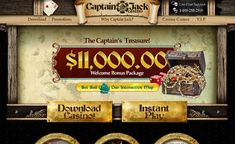 Login and #gamble some of the best #casino games offered online all with no download needed - Captain Jack Casino >> jackpotcity.co/r/58.aspx