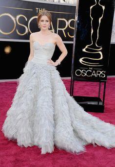 Best Oscars Dresses 2013: Amy Adams in Oscar de la Renta (@OscarPRGirl)